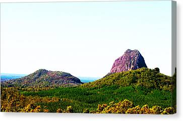Glass Mountains - Extinct Volcanos Canvas Print by Susan Vineyard