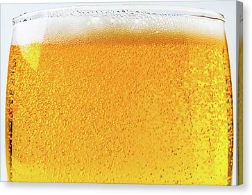 Container Canvas Print - Glass Of Beer by Garry Gay