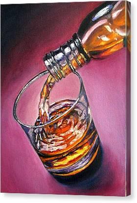 Glass Of Wine Original Oil Painting Canvas Print by Natalja Picugina
