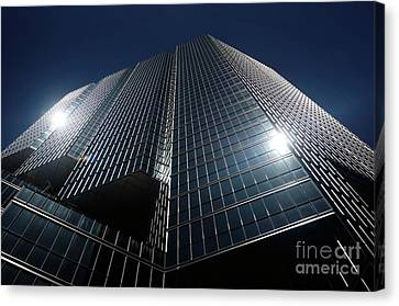 Glass Office Building Canvas Print by Oleksiy Maksymenko