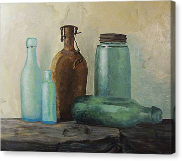 Canvas Print featuring the painting Glass by Rachel Hames