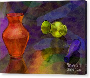 Glass Table Reflection Canvas Print - Glass Still Life - Amcg - 14012016 30 X 22.5 by Michael Geraghty