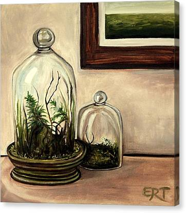 Glass Terrariums Canvas Print by Elizabeth Robinette Tyndall