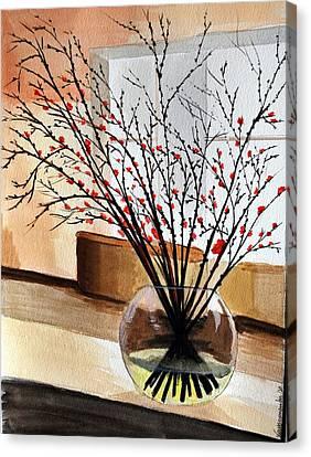 Glass Vase Canvas Print by Kostas Koutsoukanidis