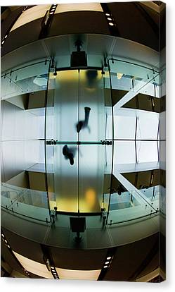 Glass Walkway Apple Store Stockton Street San Francisco Canvas Print