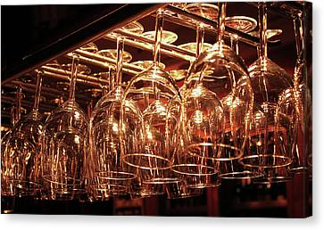 Glasses Waiting For Wines Canvas Print by Hernan Caputo