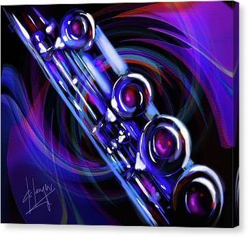 Canvas Print featuring the painting Glassical Flute by DC Langer