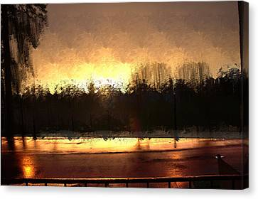 Glassy Dawn Canvas Print