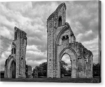 Canvas Print featuring the photograph Glastonbury Abbey by Elvira Butler