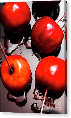 Gleaming Red Candy Apples Canvas Print by Jorgo Photography - Wall Art Gallery