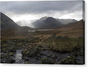 Glen Affric Storm Canvas Print by Sue Arber