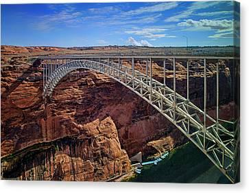 Inflatable Canvas Print - Glen Canyon Dam Bridge - Arizona by Nikolyn McDonald
