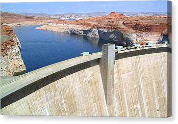 Glen Canyon Dam Canvas Print by Will Borden