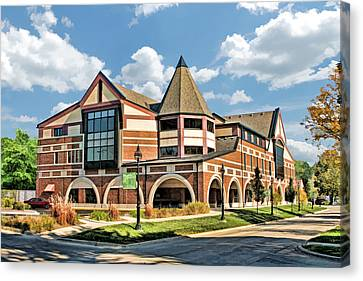 Canvas Print featuring the painting Glen Ellyn Public Library by Christopher Arndt