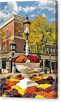 Canvas Print featuring the painting Glen Ellyn Watering Trough by Christopher Arndt