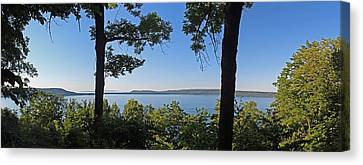 Glen Lake From Inspiration Point Canvas Print by Twenty Two North Photography