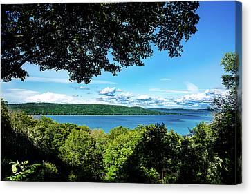 Canvas Print featuring the photograph Glen Lake by Onyonet  Photo Studios