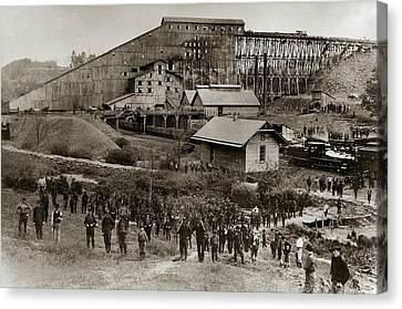 Glen Lyon Pa Susquehanna Coal Co Breaker Late 1800s Canvas Print