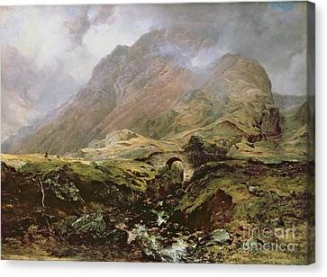 Glencoe Canvas Print by Horatio McCulloch