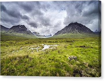 Canvas Print featuring the photograph Glencoe by Jeremy Lavender Photography