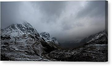 Canvas Print featuring the digital art Glencoe - Three Sisters by Pat Speirs