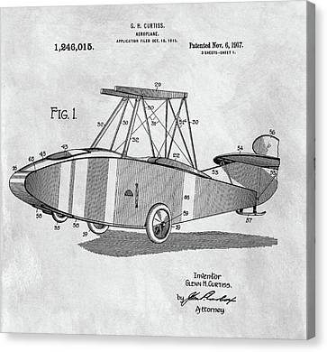 Glenn Curtiss Airplane Patent Canvas Print by Dan Sproul