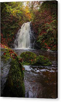 Gleno Falls Portrait View Canvas Print