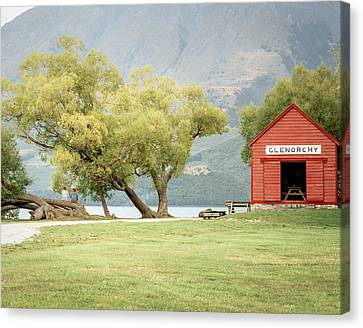 Glenorchy Boathouse Canvas Print by James Udall