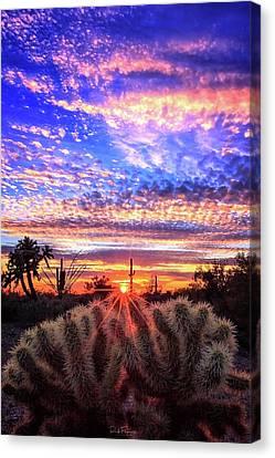 Glimmering Skies Canvas Print