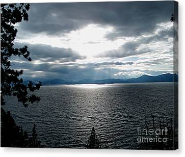 Glistening Lake  Canvas Print by The Kepharts