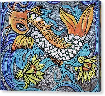 Glitter Fish Canvas Print by Laura Barbosa