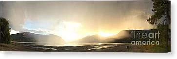 Glittering Shower Canvas Print