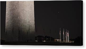 Glmpse Of The Washington Monument Canvas Print
