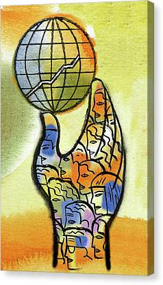 Global Market Canvas Print by Leon Zernitsky
