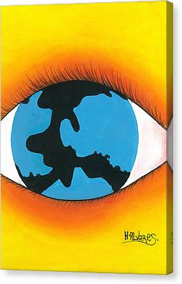 Global Sight Canvas Print by Herold Alvares