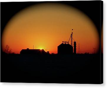 Global Sunset Canvas Print by Sue Stefanowicz