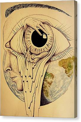 Global Vision Of The Situation Canvas Print by Paulo Zerbato