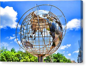Globe At Columbus Circle Canvas Print