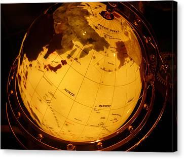 Globe Light One Canvas Print by Katherine Adams