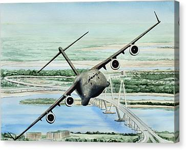 Globemaster Canvas Print by Lane Owen