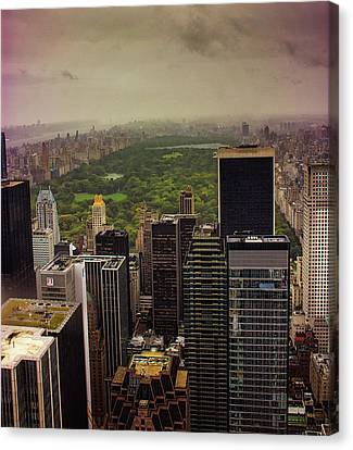 Gloomy Central Park Canvas Print