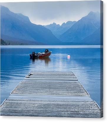 Gloomy Day Lake Mcdonald Canvas Print by Jerry Fornarotto