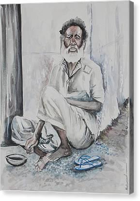 Gloomy Faces Canvas Print