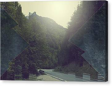 Surrealist Canvas Print - Gloomy Mountains by Thubakabra