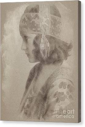 Gloria Swanson, Actress Canvas Print by John Springfield