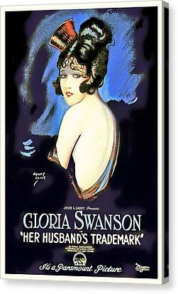 Gloria Swanson In Her Husband's Trademark 1922 Canvas Print by Mountain Dreams