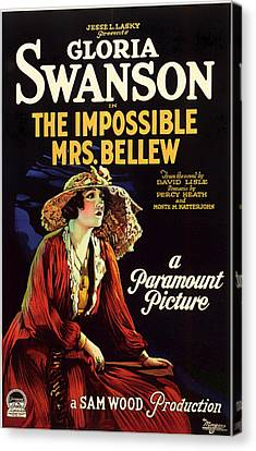 Gloria Swanson In The Impossible Mrs Bellew 1922 Canvas Print by Mountain Dreams