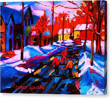 Glorious Day For A Game Canvas Print by Carole Spandau
