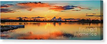 Canvas Print featuring the photograph Glorious Evening by Robert Bales