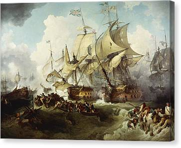 Glorious First Of June Canvas Print by Philippe Jacques de Loutherbourg